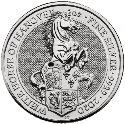 2020 2oz  White Horse of Hanover Queen's Beast Series